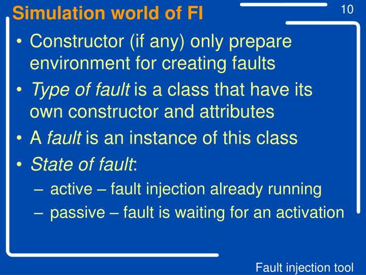 Simulation world of FI