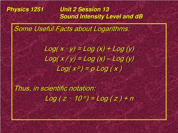 Physics 1251	Unit 2 Session 13