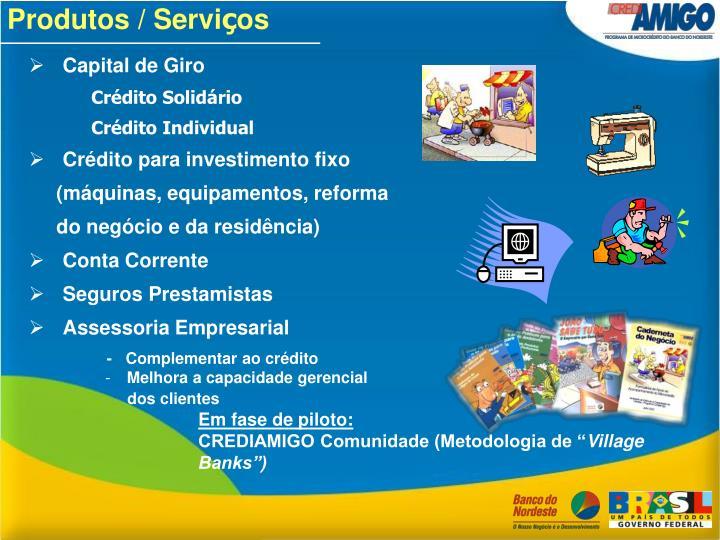 Produtos / Servi