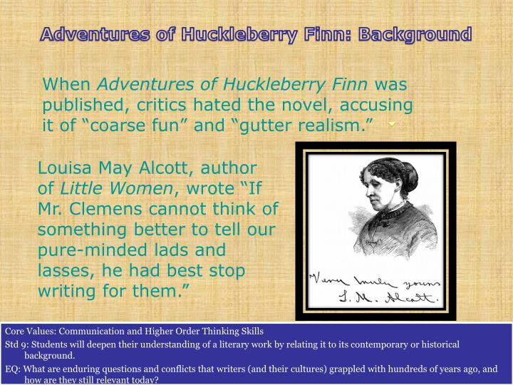 Adventures of Huckleberry Finn: Background