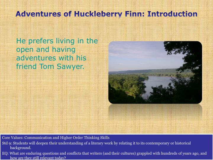 Adventures of Huckleberry Finn: Introduction