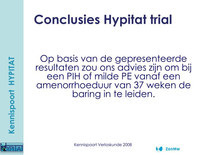 Conclusies Hypitat trial