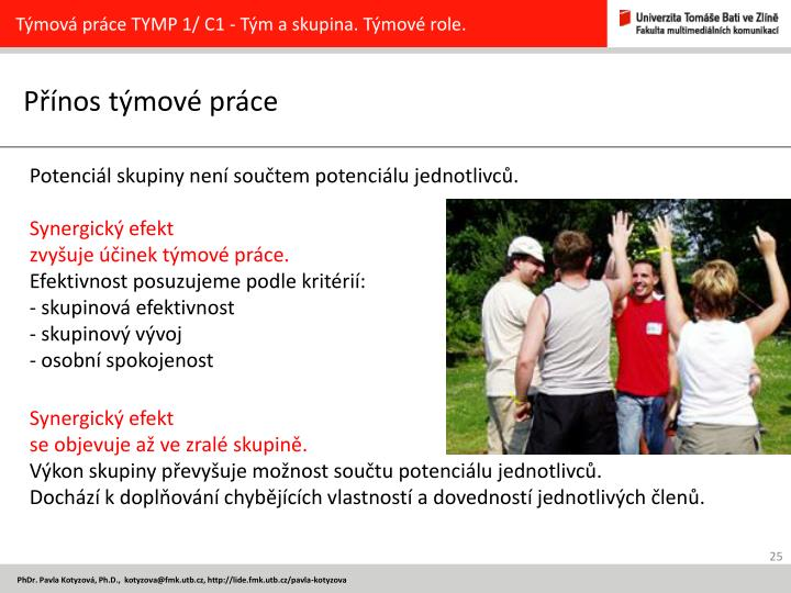 Týmová práce TYMP 1/ C1 -