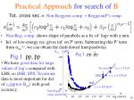 practical approach for search of b