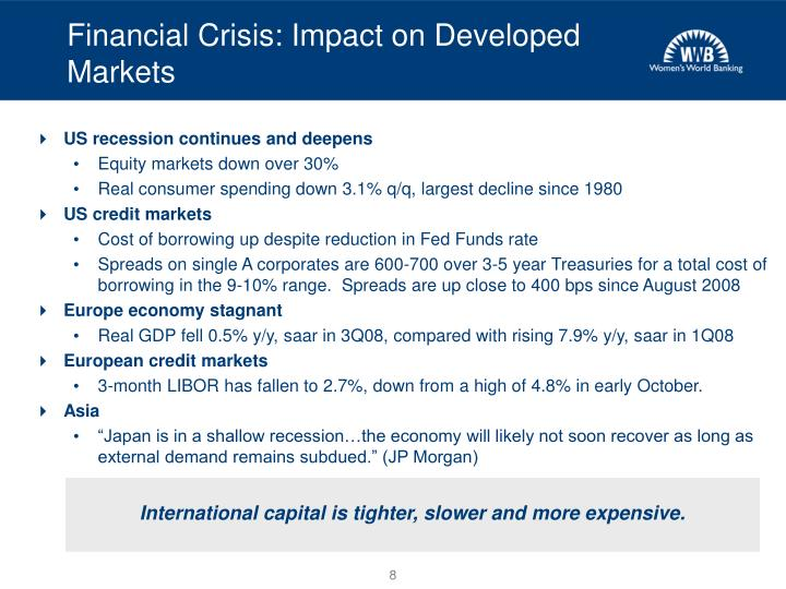 Financial Crisis: Impact on Developed Markets