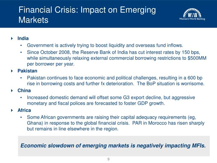 Financial Crisis: Impact on Emerging Markets