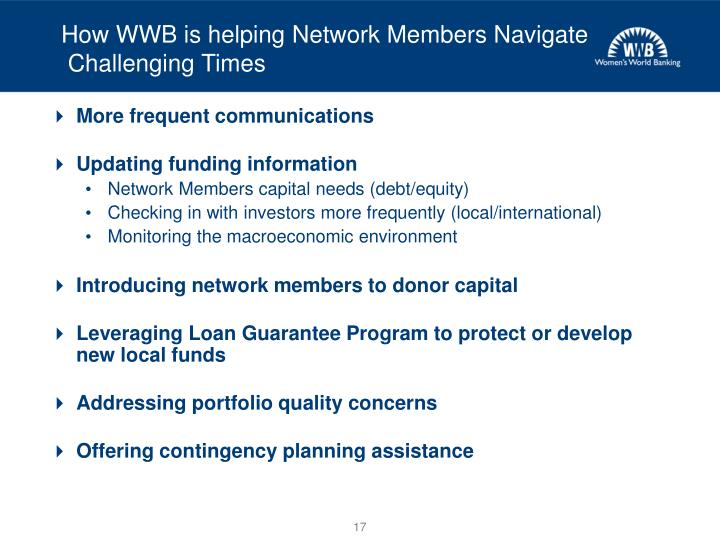 How WWB is helping Network Members Navigate