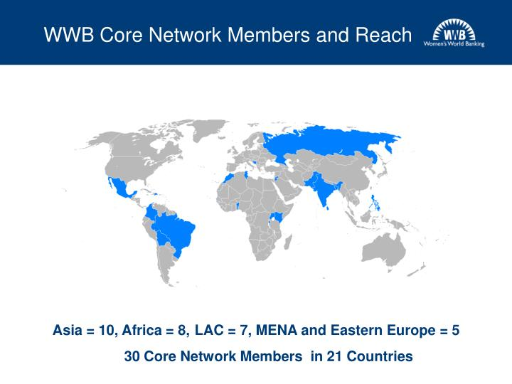 Wwb core network members and reach