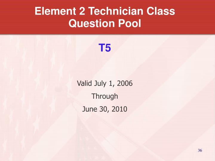 Element 2 Technician Class Question Pool