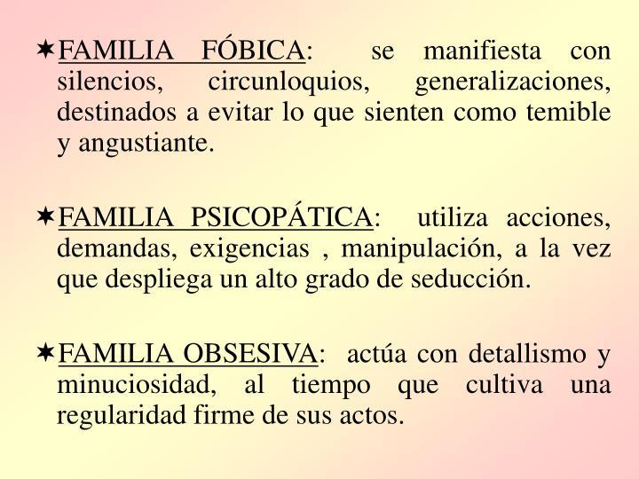 FAMILIA FÓBICA
