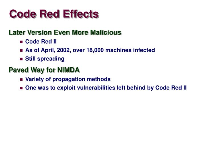 Code Red Effects
