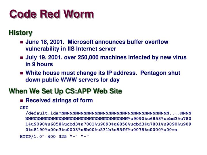 Code Red Worm