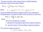 the wave function of the universe due to hartle hawking proposal is given by the path integral