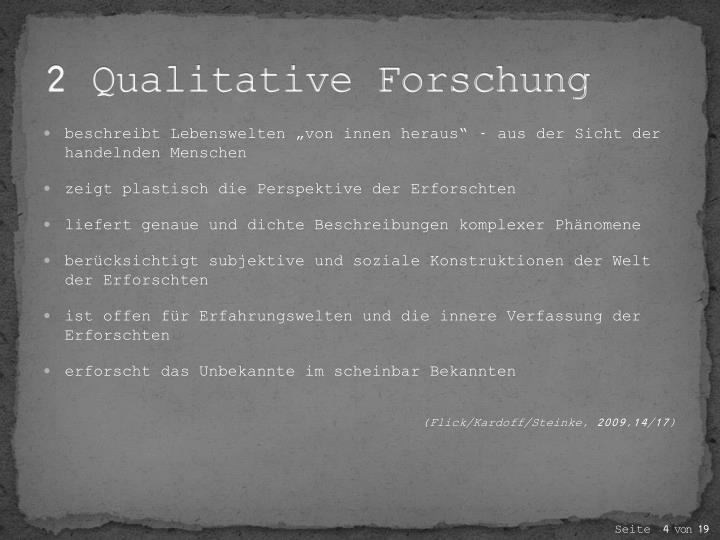2 Qualitative Forschung