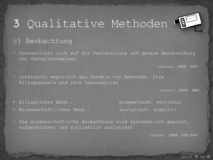 3 Qualitative Methoden