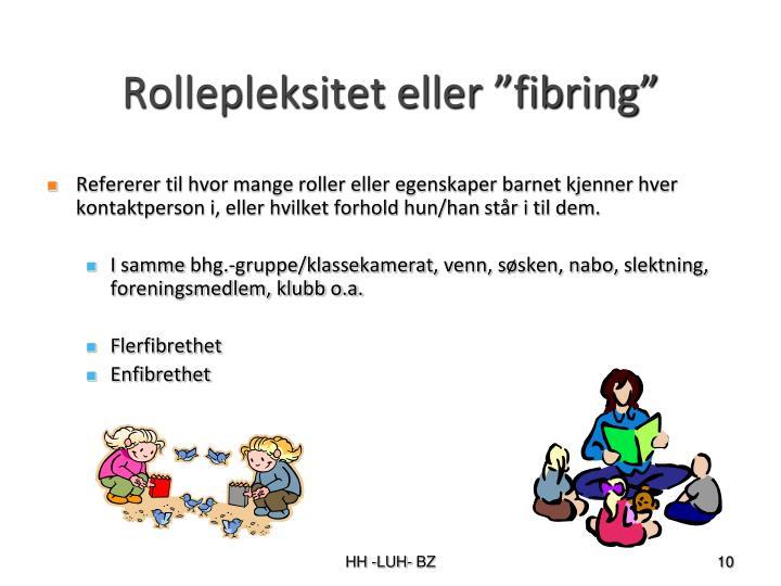 """Rollepleksitet eller """"fibring"""""""