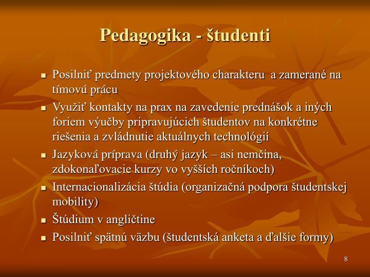 Pedagogika - študenti