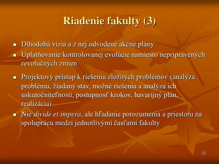 Riadenie fakulty (3)