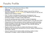faculty profile