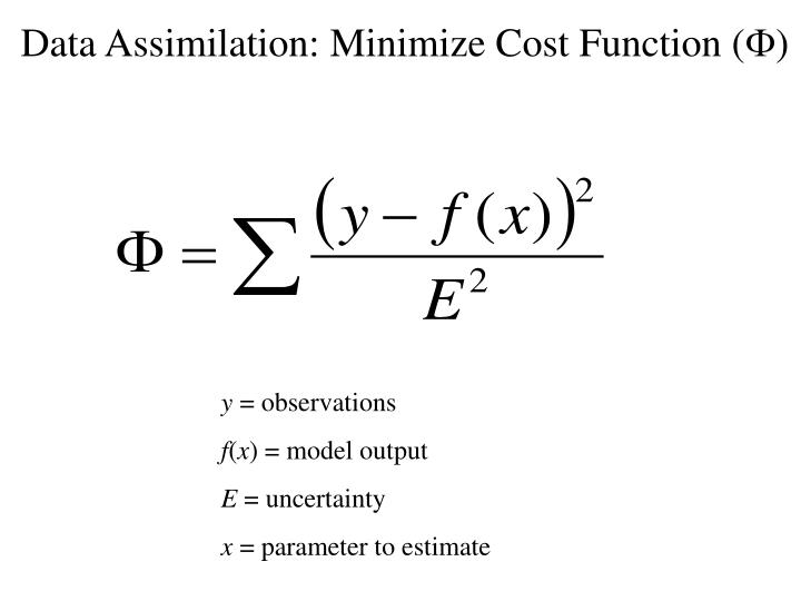 Data Assimilation: Minimize Cost Function (
