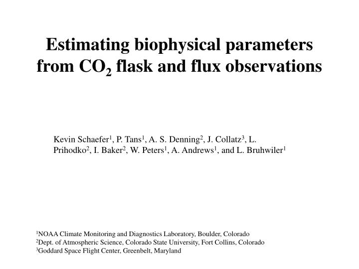 Estimating biophysical parameters from co 2 flask and flux observations