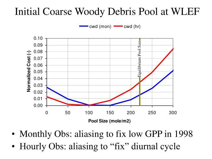 Initial Coarse Woody Debris Pool at WLEF