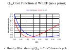 q 10 cost function at wlef no a priori