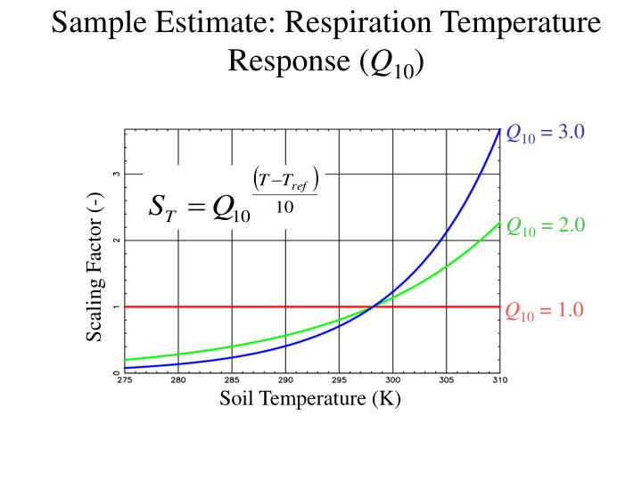 Sample Estimate: Respiration Temperature Response (