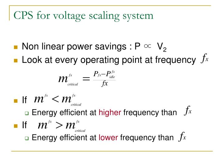 CPS for voltage scaling system