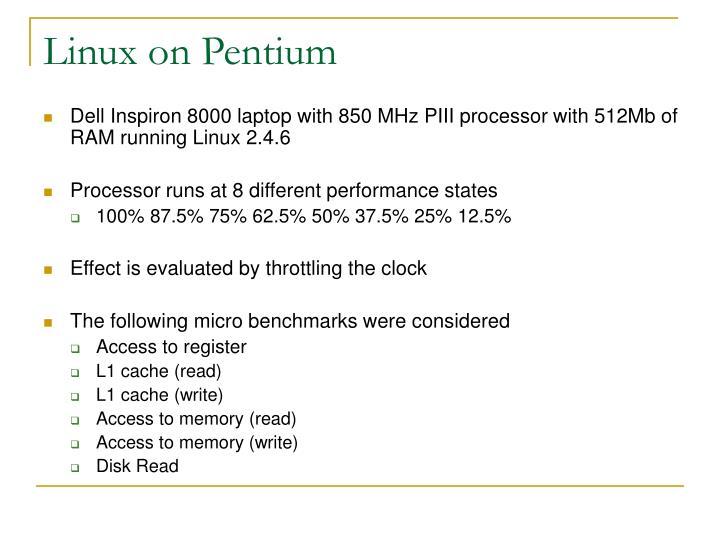 Linux on Pentium