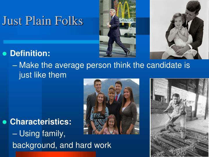 Just Plain Folks