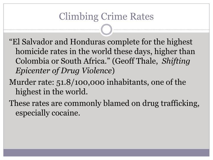 Climbing Crime Rates