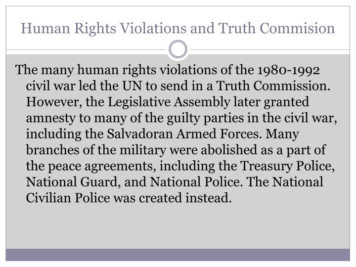 Human Rights Violations and Truth