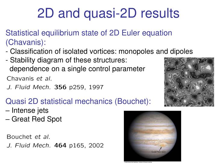 2D and quasi-2D results