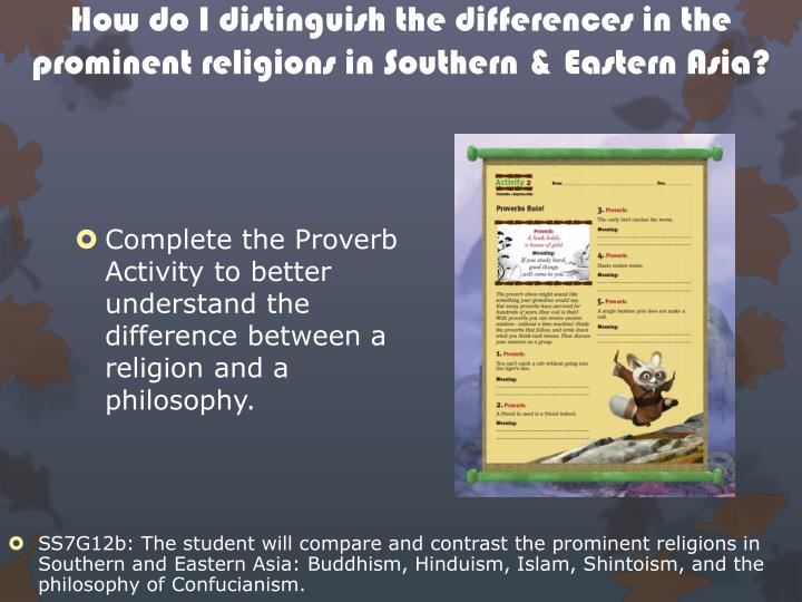 Distinguishing philosophy from religion the example of confucianism