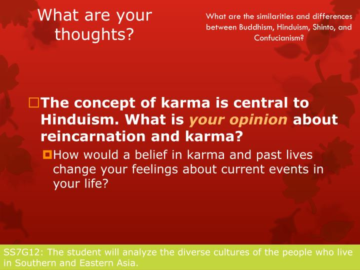 an analysis of karma and reincarnation Past life regression is a technique that uses that a belief in reincarnation and suggestions by the impressions as part of the karma from.