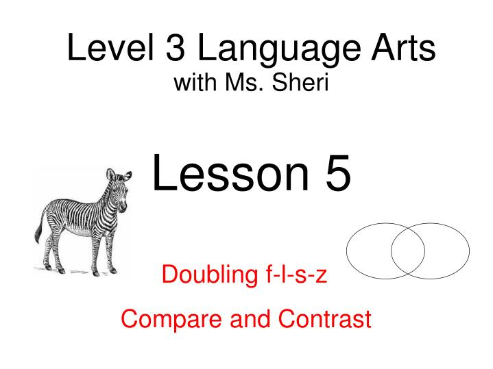 Level 3 Language Arts