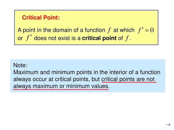 Critical Point: