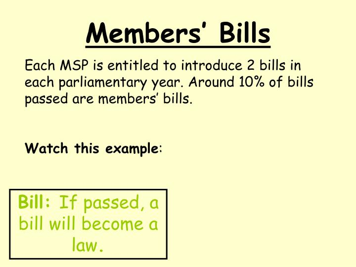 Members' Bills
