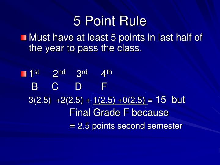 5 Point Rule