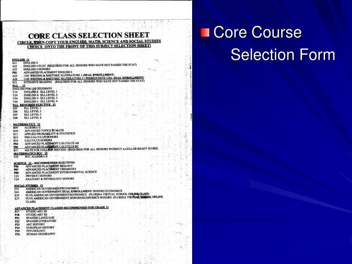 Core Course