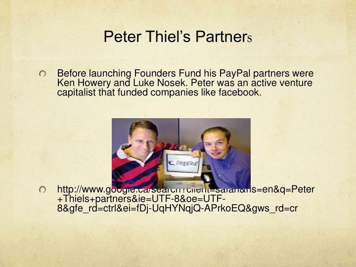 Peter Thiel's Partner