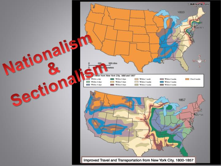 nationalism and sectionalism The missouri compromise was an agreement passed in 1820 between the pro-slavery and anti-slavery factions in the united states congress, involving.