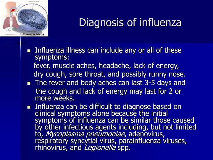 Diagnosis of influenza