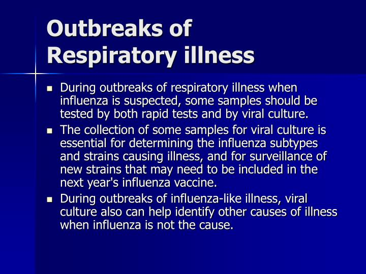 Outbreaks of