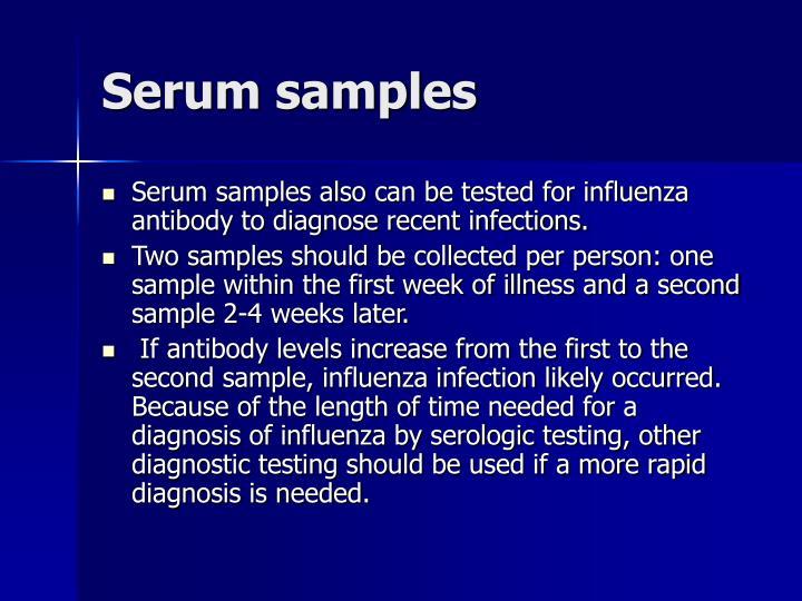 Serum samples