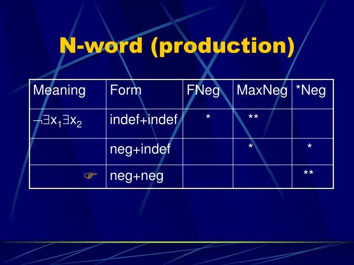 N-word (production)