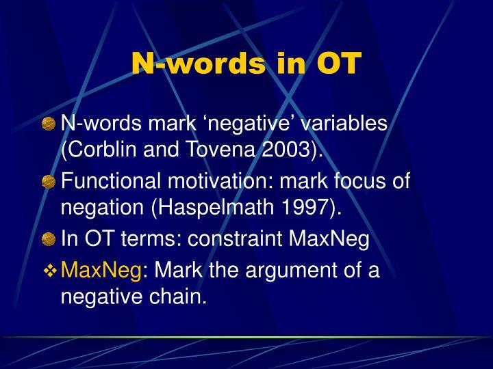 N-words in OT