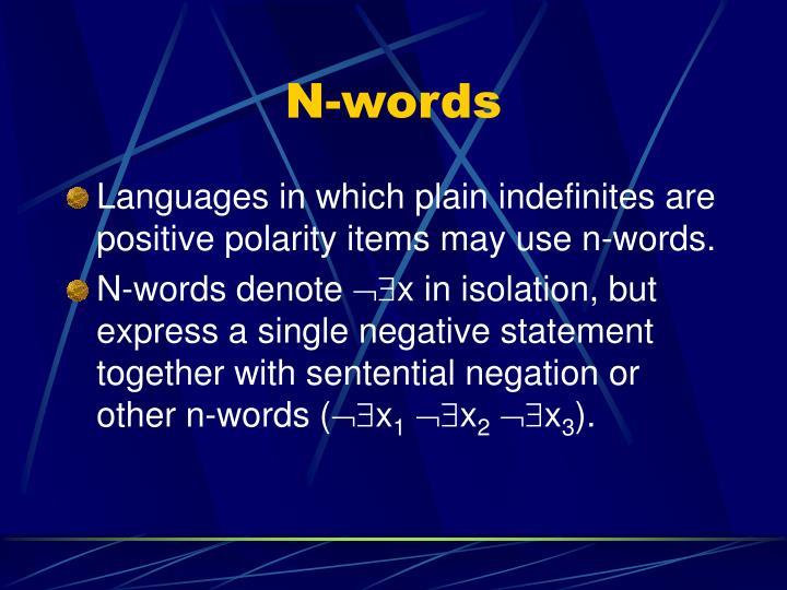 N-words