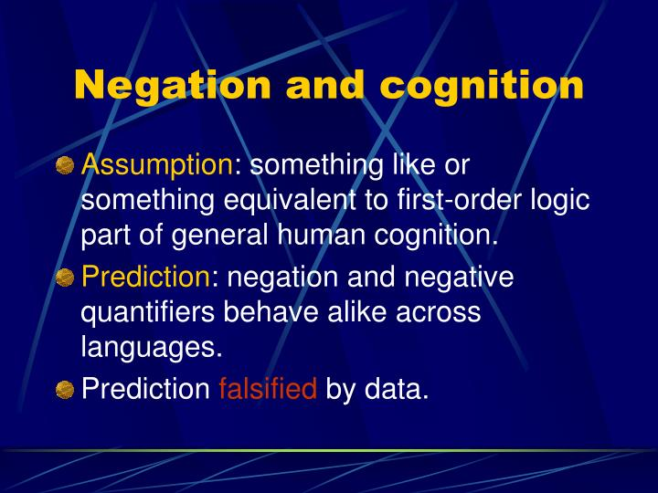 Negation and cognition